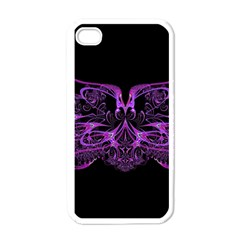 Beautiful Pink Lovely Image In Pink On Black Apple iPhone 4 Case (White)