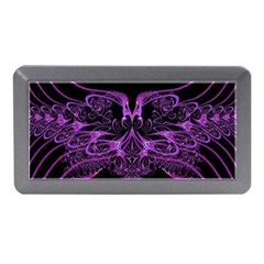 Beautiful Pink Lovely Image In Pink On Black Memory Card Reader (mini)