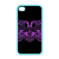Beautiful Pink Lovely Image In Pink On Black Apple iPhone 4 Case (Color)