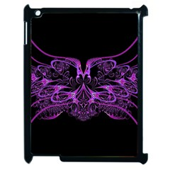Beautiful Pink Lovely Image In Pink On Black Apple iPad 2 Case (Black)