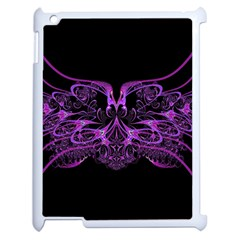 Beautiful Pink Lovely Image In Pink On Black Apple iPad 2 Case (White)