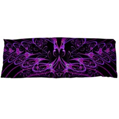 Beautiful Pink Lovely Image In Pink On Black Body Pillow Case Dakimakura (two Sides)
