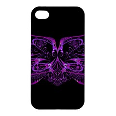 Beautiful Pink Lovely Image In Pink On Black Apple iPhone 4/4S Premium Hardshell Case