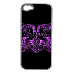 Beautiful Pink Lovely Image In Pink On Black Apple iPhone 5 Case (Silver)