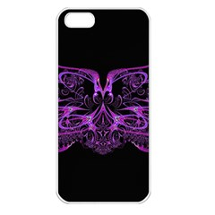 Beautiful Pink Lovely Image In Pink On Black Apple Iphone 5 Seamless Case (white)