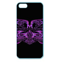 Beautiful Pink Lovely Image In Pink On Black Apple Seamless Iphone 5 Case (color)