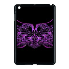 Beautiful Pink Lovely Image In Pink On Black Apple iPad Mini Case (Black)