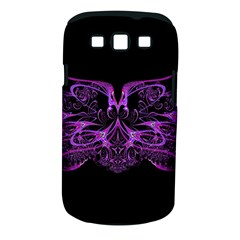 Beautiful Pink Lovely Image In Pink On Black Samsung Galaxy S Iii Classic Hardshell Case (pc+silicone)
