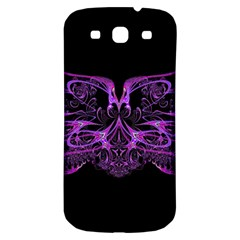 Beautiful Pink Lovely Image In Pink On Black Samsung Galaxy S3 S III Classic Hardshell Back Case