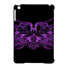 Beautiful Pink Lovely Image In Pink On Black Apple Ipad Mini Hardshell Case (compatible With Smart Cover)