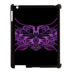 Beautiful Pink Lovely Image In Pink On Black Apple iPad 3/4 Case (Black)