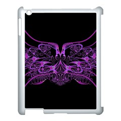 Beautiful Pink Lovely Image In Pink On Black Apple Ipad 3/4 Case (white)