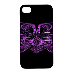 Beautiful Pink Lovely Image In Pink On Black Apple iPhone 4/4S Hardshell Case with Stand