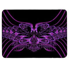 Beautiful Pink Lovely Image In Pink On Black Samsung Galaxy Tab 7  P1000 Flip Case