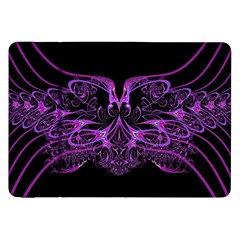 Beautiful Pink Lovely Image In Pink On Black Samsung Galaxy Tab 8.9  P7300 Flip Case