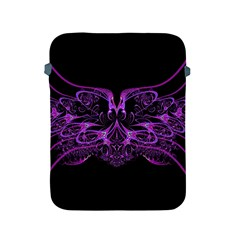 Beautiful Pink Lovely Image In Pink On Black Apple Ipad 2/3/4 Protective Soft Cases