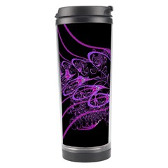 Beautiful Pink Lovely Image In Pink On Black Travel Tumbler