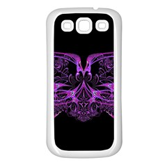 Beautiful Pink Lovely Image In Pink On Black Samsung Galaxy S3 Back Case (White)