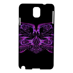 Beautiful Pink Lovely Image In Pink On Black Samsung Galaxy Note 3 N9005 Hardshell Case