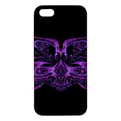 Beautiful Pink Lovely Image In Pink On Black iPhone 5S/ SE Premium Hardshell Case