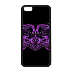 Beautiful Pink Lovely Image In Pink On Black Apple iPhone 5C Seamless Case (Black)