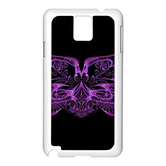 Beautiful Pink Lovely Image In Pink On Black Samsung Galaxy Note 3 N9005 Case (white)