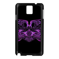 Beautiful Pink Lovely Image In Pink On Black Samsung Galaxy Note 3 N9005 Case (black)