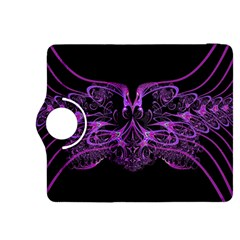 Beautiful Pink Lovely Image In Pink On Black Kindle Fire HDX 8.9  Flip 360 Case