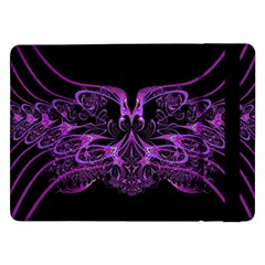 Beautiful Pink Lovely Image In Pink On Black Samsung Galaxy Tab Pro 12.2  Flip Case