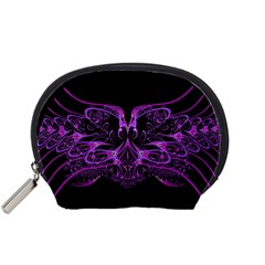 Beautiful Pink Lovely Image In Pink On Black Accessory Pouches (small)