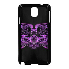 Beautiful Pink Lovely Image In Pink On Black Samsung Galaxy Note 3 Neo Hardshell Case (Black)