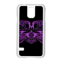 Beautiful Pink Lovely Image In Pink On Black Samsung Galaxy S5 Case (White)