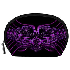 Beautiful Pink Lovely Image In Pink On Black Accessory Pouches (large)
