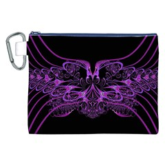 Beautiful Pink Lovely Image In Pink On Black Canvas Cosmetic Bag (XXL)