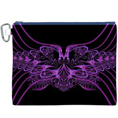 Beautiful Pink Lovely Image In Pink On Black Canvas Cosmetic Bag (xxxl)