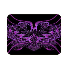 Beautiful Pink Lovely Image In Pink On Black Double Sided Flano Blanket (mini)