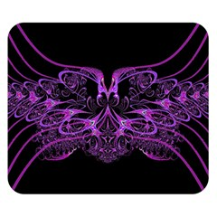 Beautiful Pink Lovely Image In Pink On Black Double Sided Flano Blanket (Small)