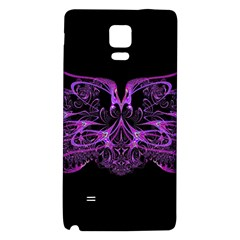 Beautiful Pink Lovely Image In Pink On Black Galaxy Note 4 Back Case