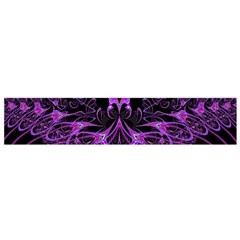 Beautiful Pink Lovely Image In Pink On Black Flano Scarf (Small)
