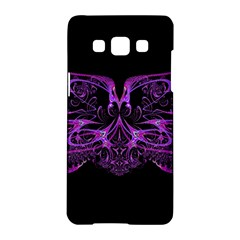 Beautiful Pink Lovely Image In Pink On Black Samsung Galaxy A5 Hardshell Case