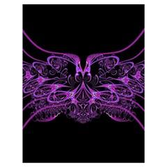 Beautiful Pink Lovely Image In Pink On Black Drawstring Bag (Large)
