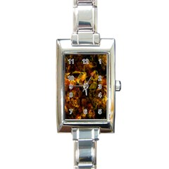 Autumn Colors In An Abstract Seamless Background Rectangle Italian Charm Watch