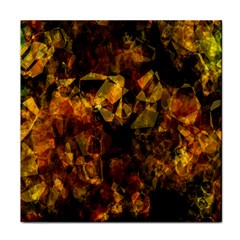 Autumn Colors In An Abstract Seamless Background Tile Coasters