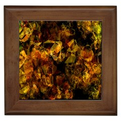 Autumn Colors In An Abstract Seamless Background Framed Tiles