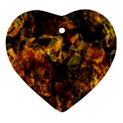 Autumn Colors In An Abstract Seamless Background Ornament (Heart)