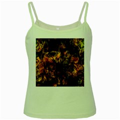 Autumn Colors In An Abstract Seamless Background Green Spaghetti Tank
