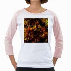 Autumn Colors In An Abstract Seamless Background Girly Raglans