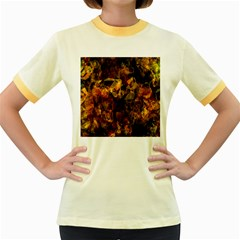 Autumn Colors In An Abstract Seamless Background Women s Fitted Ringer T-Shirts