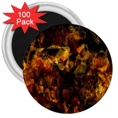 Autumn Colors In An Abstract Seamless Background 3  Magnets (100 Pack)