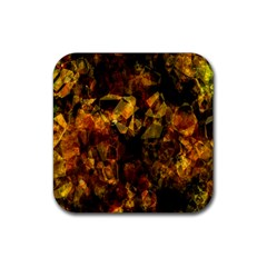 Autumn Colors In An Abstract Seamless Background Rubber Square Coaster (4 pack)